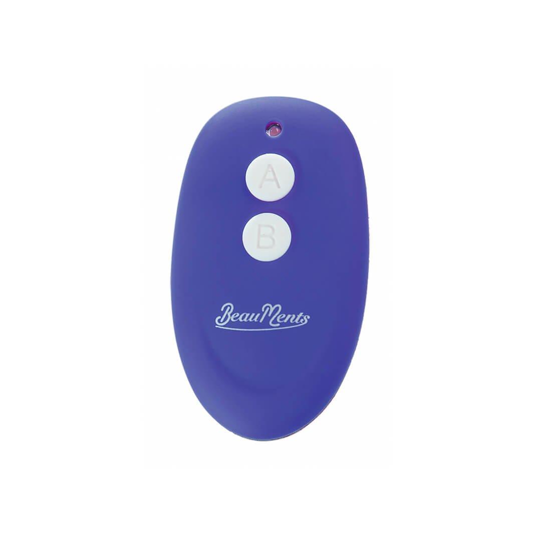 Imagem do controle remoto do vibrador Doppio 2.0 na cor azul