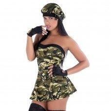 Fantasia Militar com Vestido