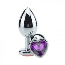 Plug Jóia em Aço G - Base Coração e Cristal Colorido