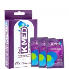 Lubrificante Íntimo K-MED 2 em 1 - Sache - 3un
