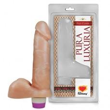 Pênis Realístico com  Escroto e Vibro - 15x3,8cm