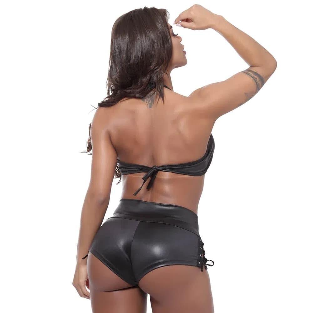 Conjunto Top e Shorts com Ilhós Linha Madame-X Miss Collection