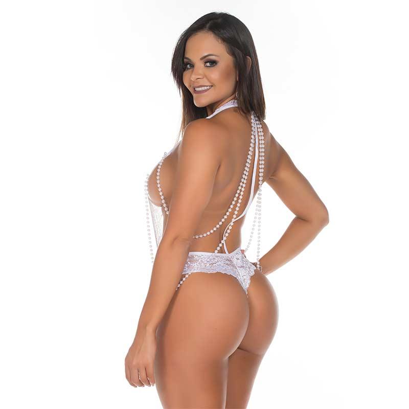 Body de Renda Afrodite Branco