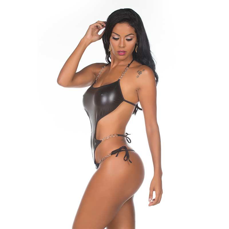 Body Sensual Feminino com Corrente