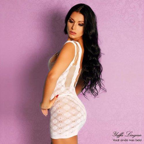 Mini Vestido Com Decote Sexy Yaffa