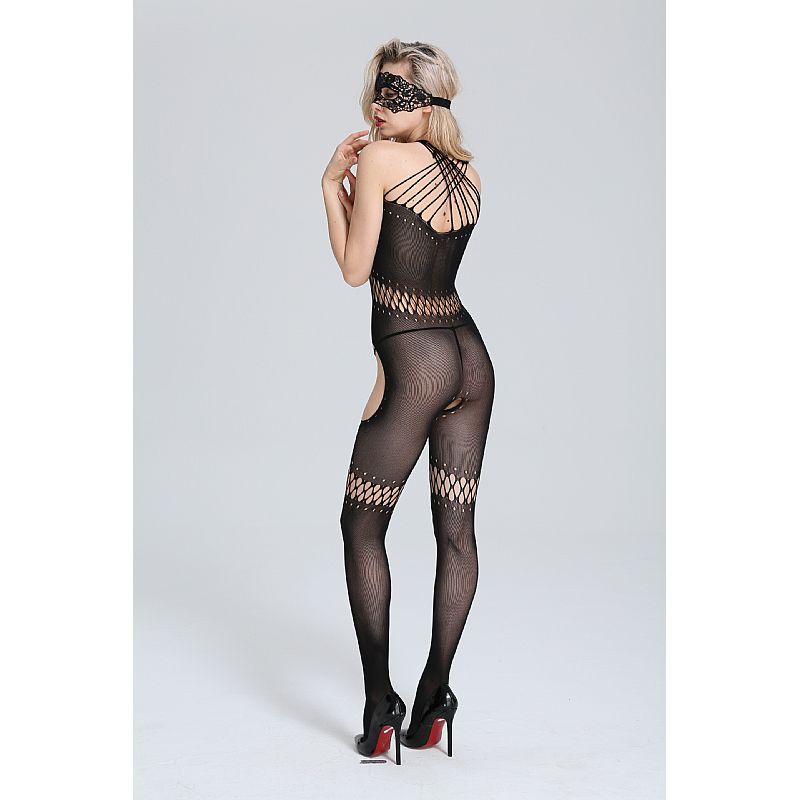 Macacão Bodystocking Rendado Dominatrixx