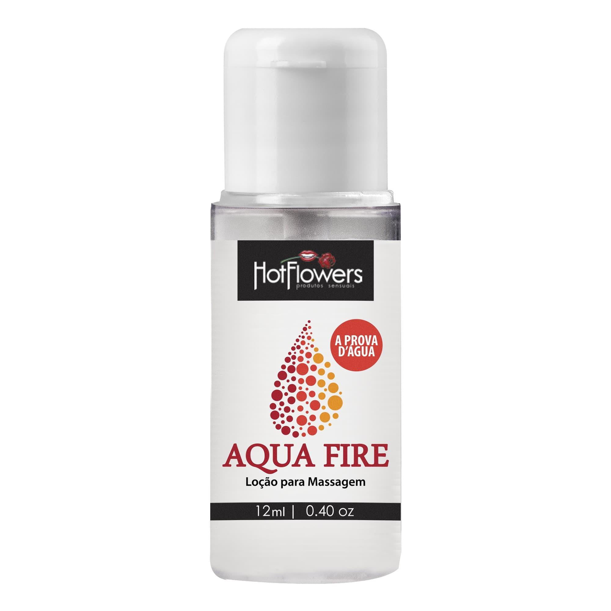 Lubrificante Aqua Fire - À Prova d'Água - Hot Flowers