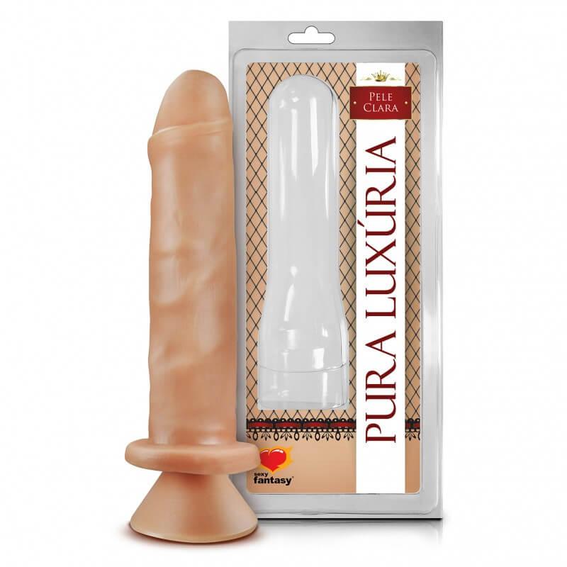 Um pênis realístico de silicone com detalhes impresisoantens. Igual a um pênis real.