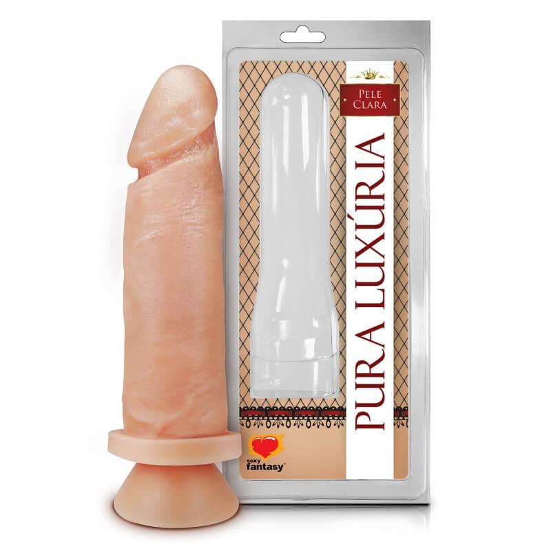 Um pênis realístico com ventosa de silicone e plastisol. Uma ótima opção pra quem quer ter mais prazer durante a masturbação