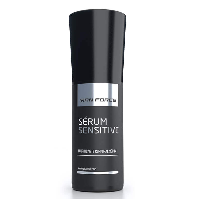 A embalagem do Gel Prolongador e Retardante Sérum Sensitive Man Force
