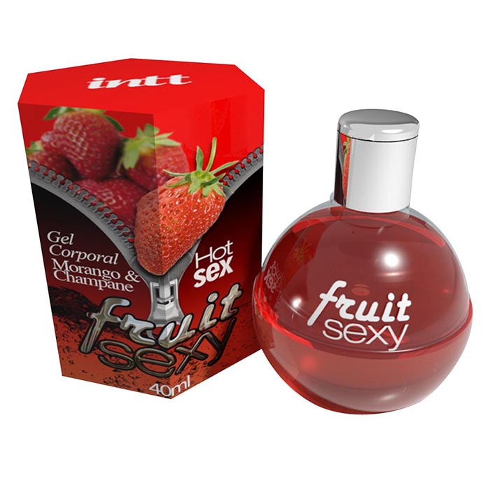 Gel Beijável Fruit Sexy Morango & Champagne - Intt